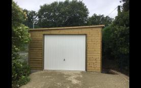 garage bois toit plat luxe