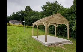 garage bois toit plat de qualité