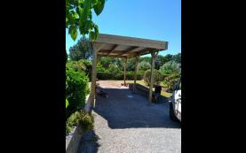 carport toit plat bois