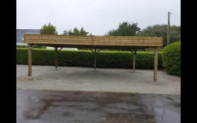 carport toit plat haute qualité