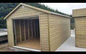 garage bipente bois
