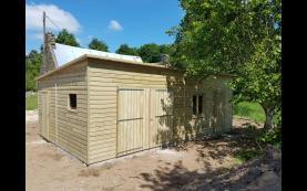 garage bois toit plat haut de gamme