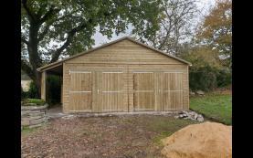 garage en bois morbihan