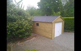 garage en bois luxe