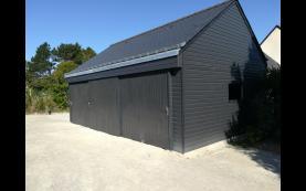 garage bipente alu
