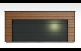 garage bois toit plat haute qualité