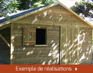 Abri de jardin sur mesure en bois ou en PVC.
