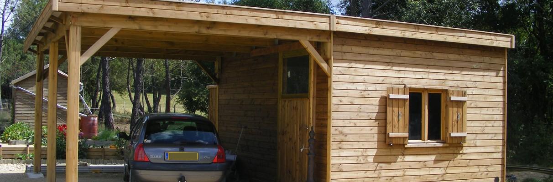Carport en bois sur mesure.