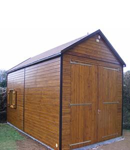 garage de voiture en bois sur mesure garage toit plat ou en pente menuiserie de l 39 ouest. Black Bedroom Furniture Sets. Home Design Ideas